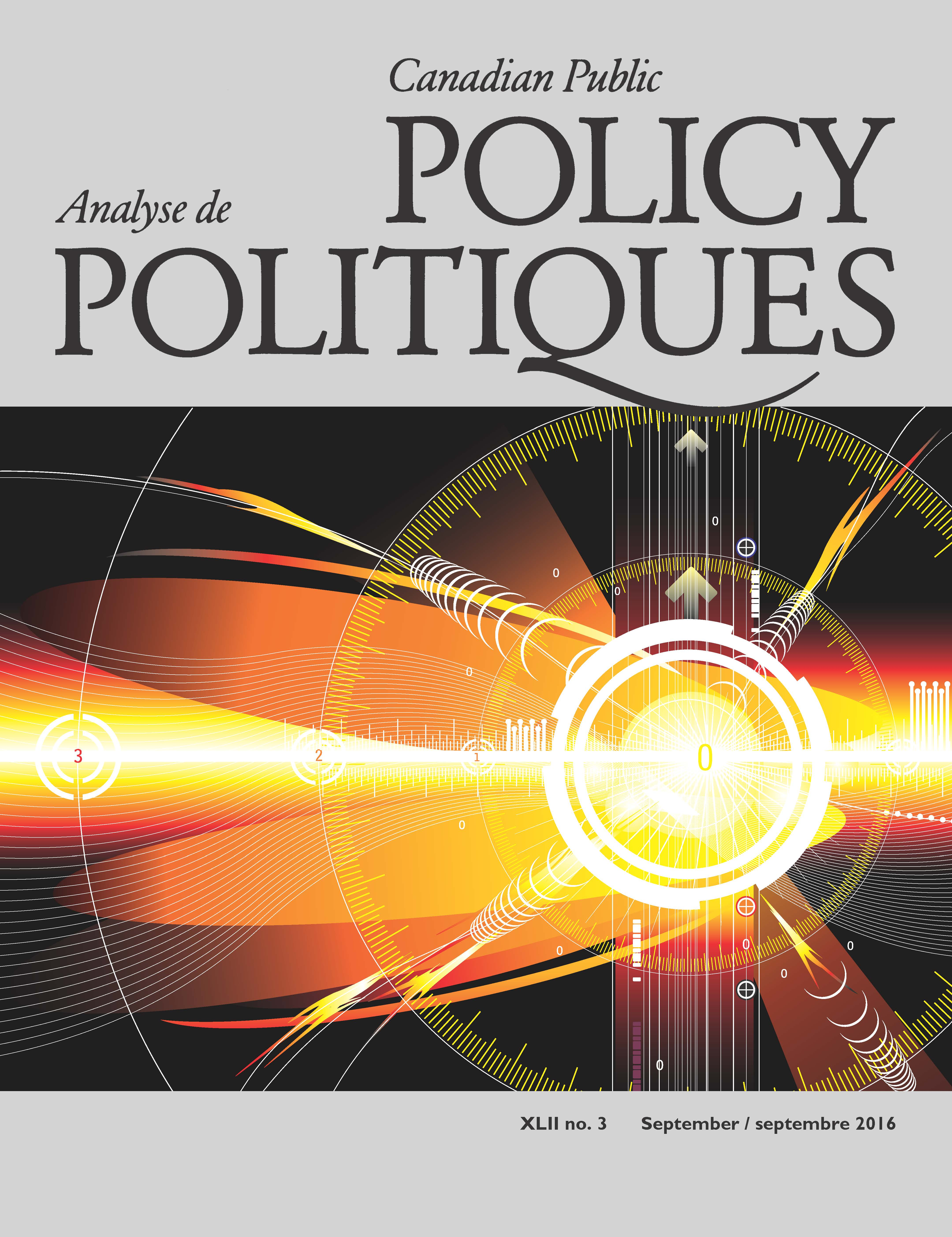 Canadian Public Policy cover