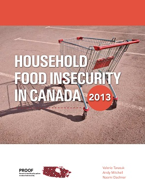Report title: Household Food Insecurity in Canada, 2013