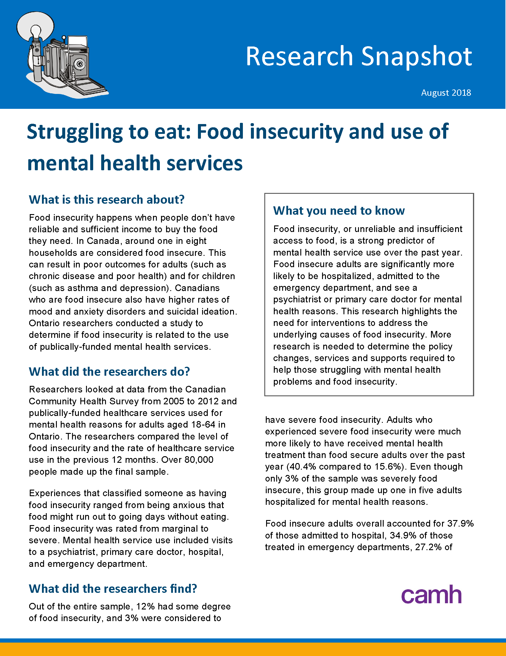 food insecurity and mental health services page 1