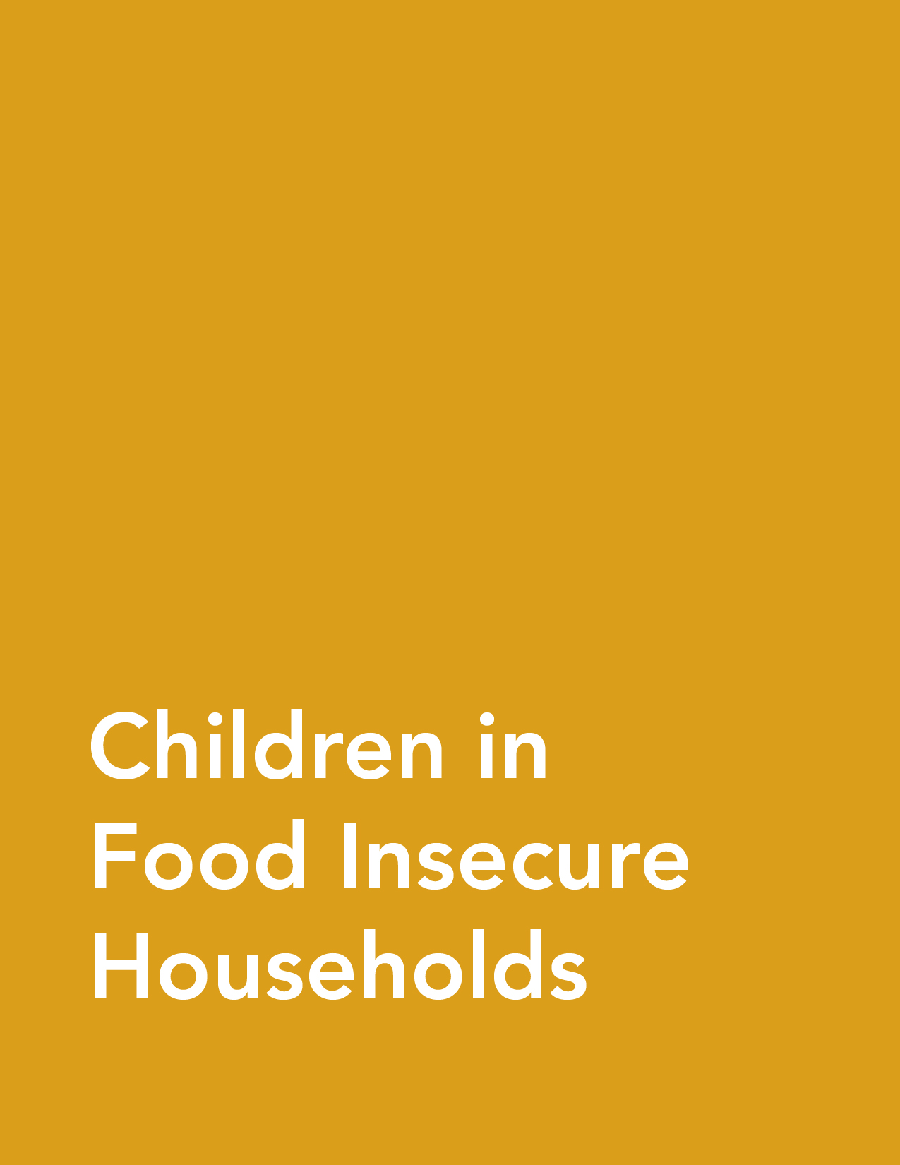 Fact Sheet: Children in Food Insecure Households