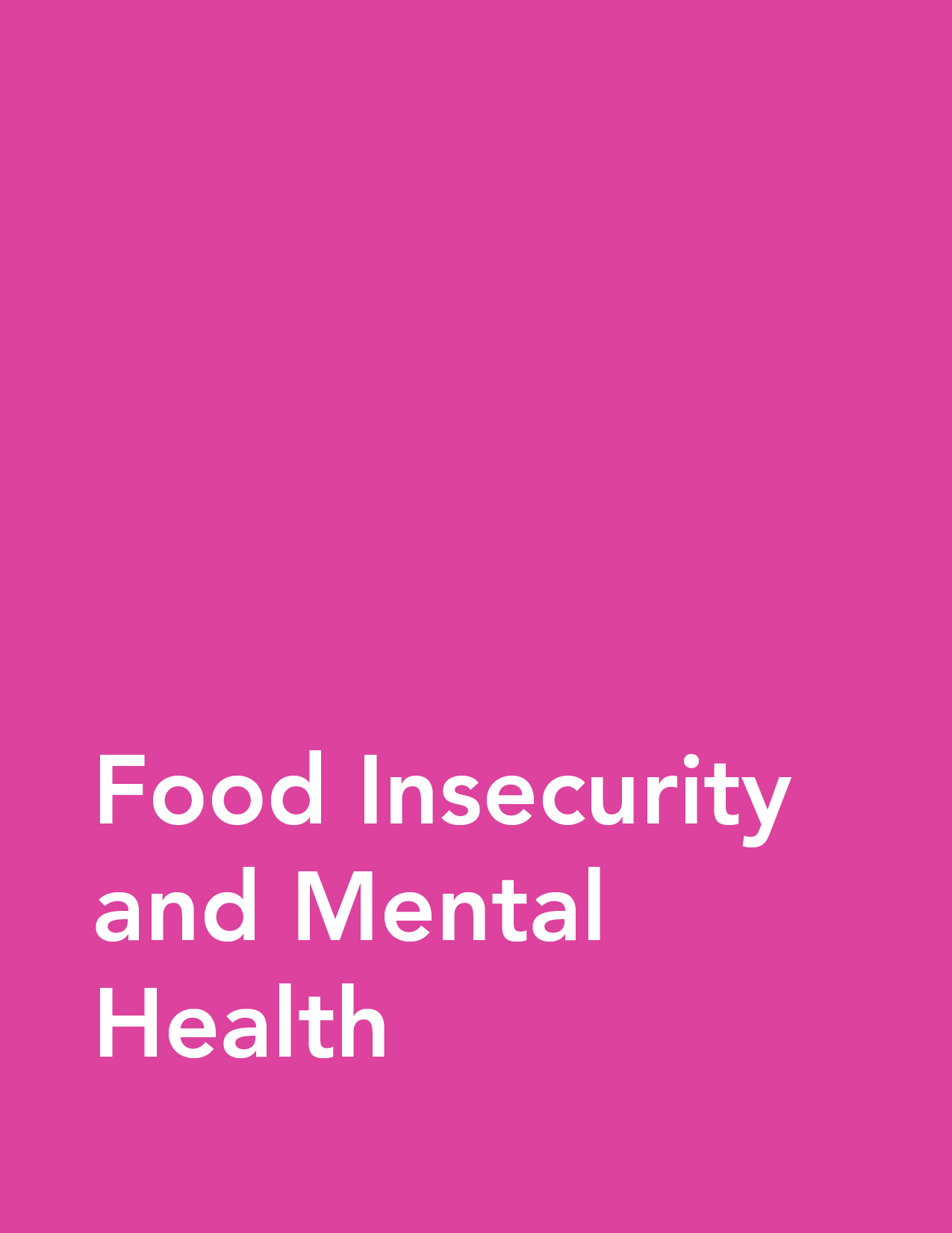 Fact Sheet: Food Insecurity and Mental Health